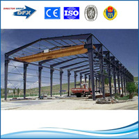 construction steel structure for showroom
