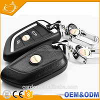 Universal remote control key blanks smart leather car key case wholesale for bmw