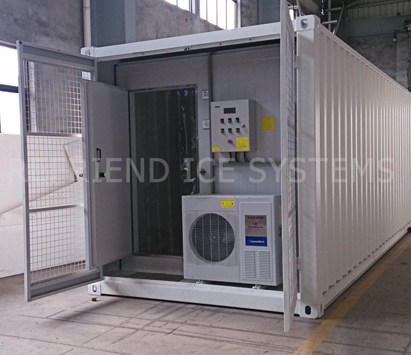 10T Capacity Aluminium Modular Container Ice Block Plant With Ice Room