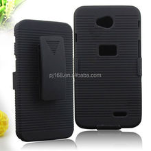 new product hard case holster kickstand belt clip case for LG Optimus Logic L3 L35G L38C