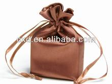 Polyester satin bag satin pouch with logo