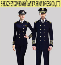 factory made custom pilot uniform suit for man and women
