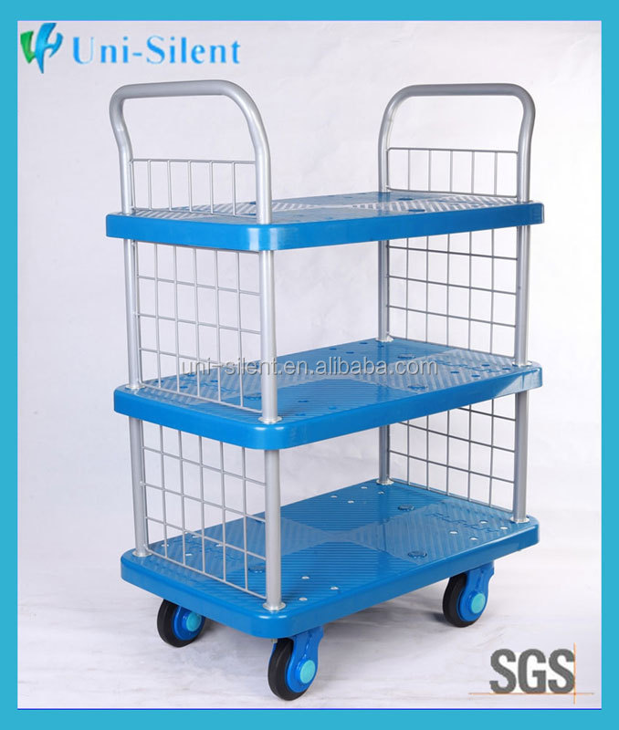3 Tier Transport Library Mobile Filing Book Storage Trolley PLA250-T3-SC