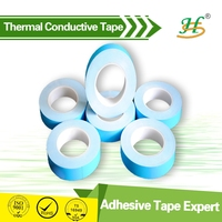 Double sided blue film thermally conducting tape