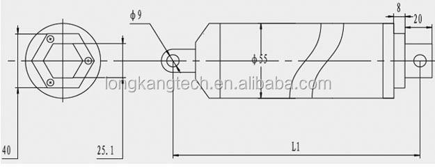 lk-110 waterproof electric linear actuator price