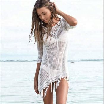 Stock Popular Sexy Young Girls Crochet Beach Cover-up