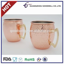 Newest design hammered gold moscow mule copper mugs