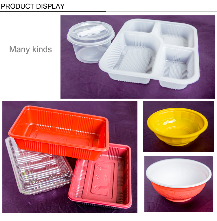 Disposable PP Microwaveable plastic food container box