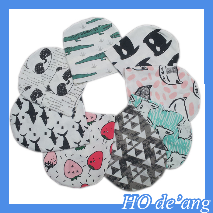 Best price popular 100% cotton double layer printed baby hat with ear muff HO-N382