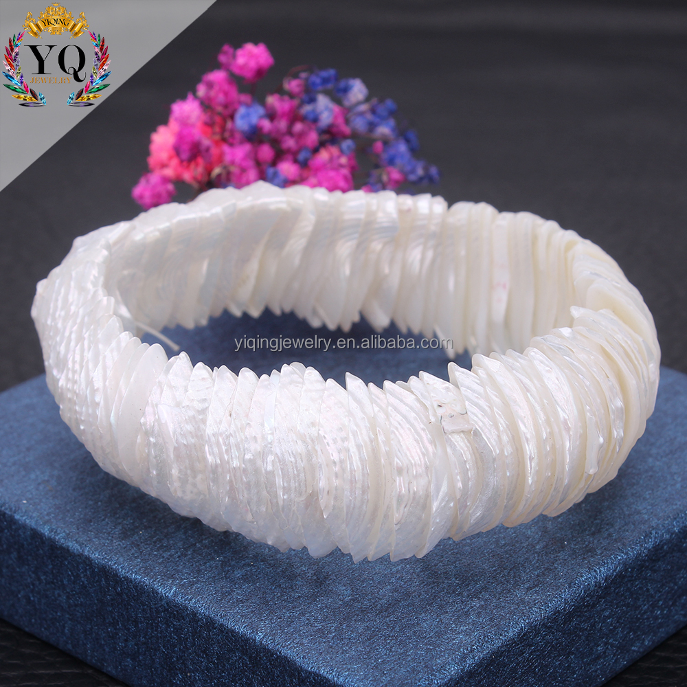 BYQ-00105 natual beach sea shell bracelet cowrie shell elastic sting adjustable beach bracelet