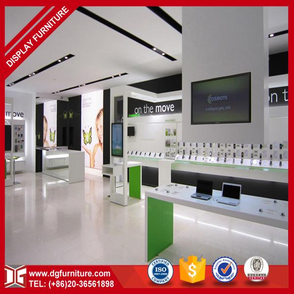 Free Computer Shop Interior Design Laptop Display Cabinet