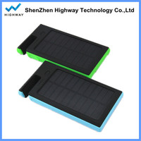 Durable solar mobile charger LED power bank for outdoor sport