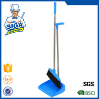 SIGA 2015 new style swivel handle dustpan & PET broom