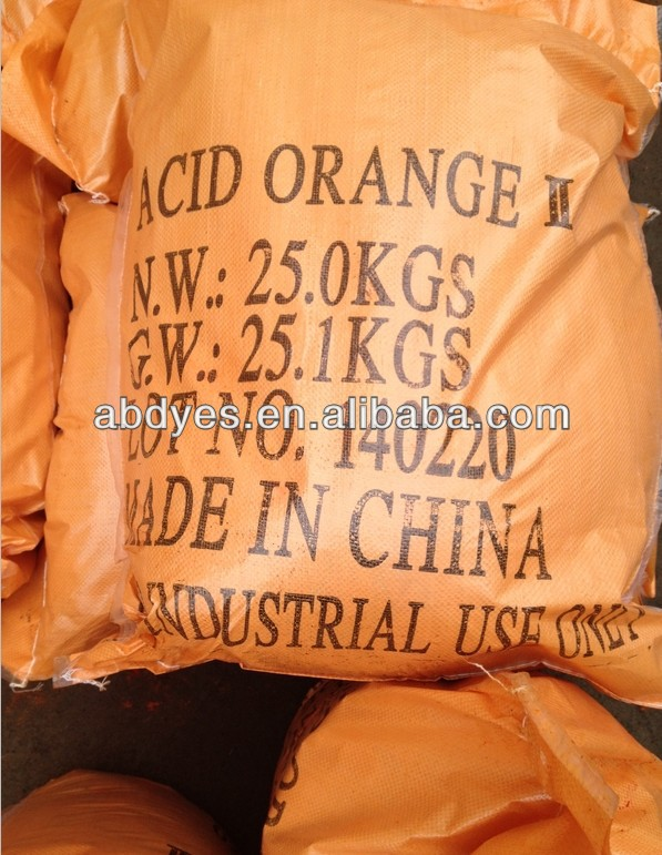 Acid Orange II dyes