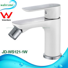 JD-WB121-1W contemporary Watermark White bidet faucet single lever basin faucet