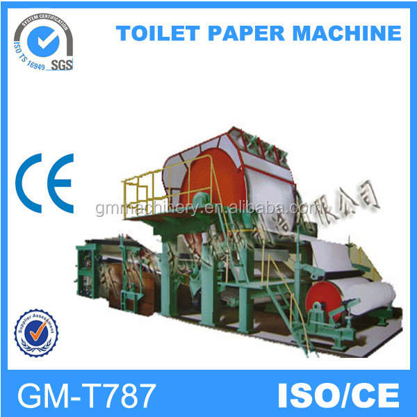 2016 competitive price but best quality 787mm small model 1tpd toilet paper making machine
