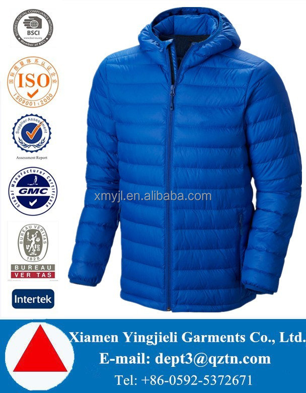2016 Simple Style Ultra Light Men Duck Down Jacket For Winters