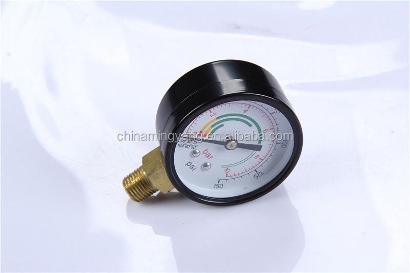 High Strength Durable LightWeight Easy To Read Clear Bourdon Sedeme Pressure Gauge
