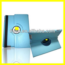 360 Degree Rotating PU Leather Case for iPad 4 3 2 Smart Cover w Magnetic Swivel Stand for Apple iPad Accessories Light Blue