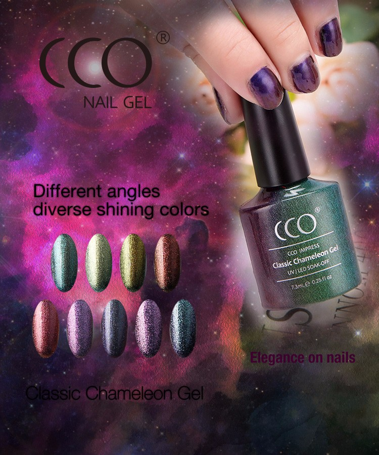 CCO Soak-Off Temperature Chameleon Change Colors Nail Gel Polish