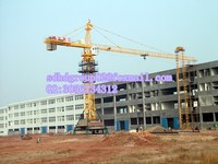 Hot sale HONGDA TLS tower crane QTZ80A 8t tower crane moving/mobile tower crane