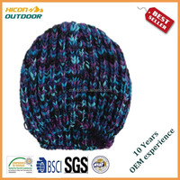 women's winter knitted beanie hat manufacturer