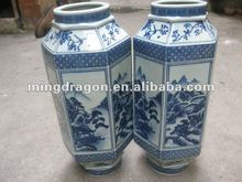 Chinese antique porcelain blue and white vase