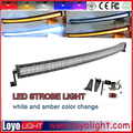 wholesale ! 288w c-ree led curved light bar with Amber white strobe function