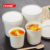 Disposable food grade paper hot soup bowl with lid