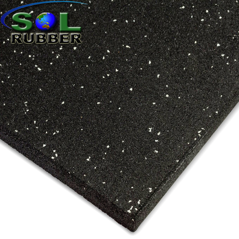 High density EPDM flecks GYM rubber flooring tiles