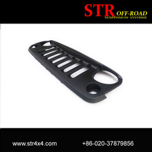 Auto ABS Front Matte Black Angry Bird Grill For Jeep Wrangler JK