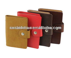 Business pu leather name card holder