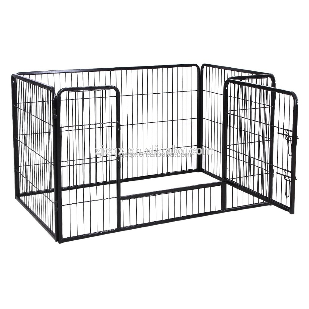 Foldable Square Pipe Large Dog Fence Metal Dog Crate