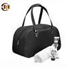 Black blank bag small oxford sports duffle tote travel bag for men