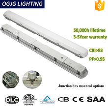 Waterproof linear light with hole for connecting conduit pipe
