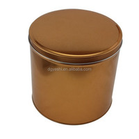 Alibaba China Metal Health Food Packaging Box Factory Customize Gift Box Use High Tall Round Cookie Tin Box Wholesale