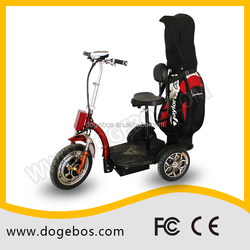 48V tricycle scooter with golf bags and CE certification