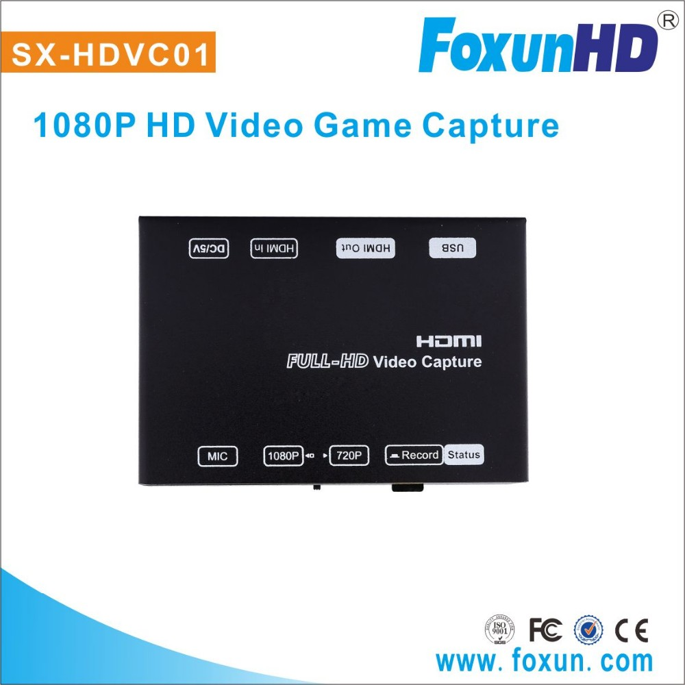 Foxun 1920x1080p Full HD game capture USB2.0 host easy setup video game accessory