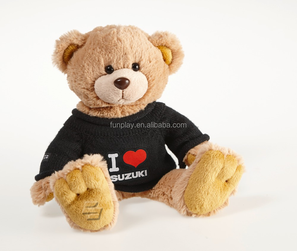 HI CE organic cotton teddy bear toy stuffed plush toy