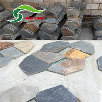 Hot selling rusty slate paving stone on net