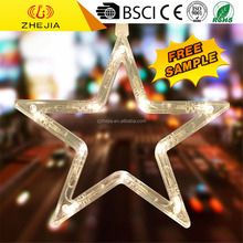 Top quality cheap price colorful star led curtain lights, red twinkle window light