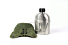 Military Water Canteen with Polyester cover and aluminum cup