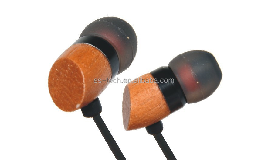 Good Quality No Radistion Wood In-ear Earbuds