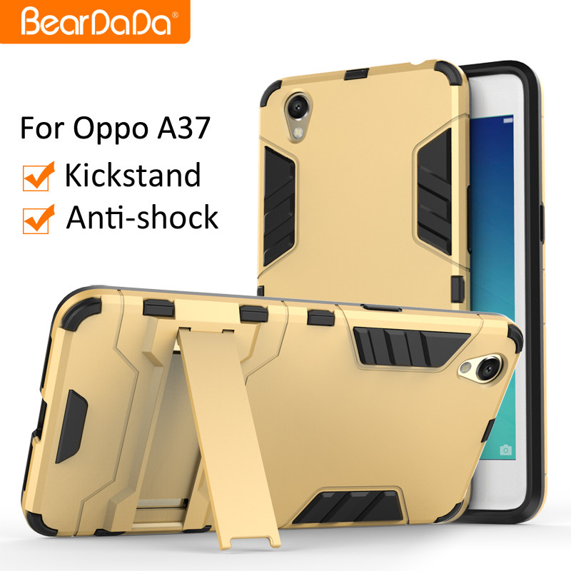 Best Selling Shockproof kickstand TPU PC for oppo a37 back cover