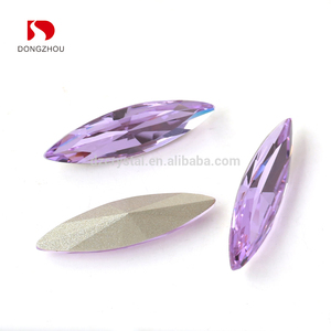 DZ-3017A China manufacture small size Loose fancy stone navette nail rhinestones for nail art