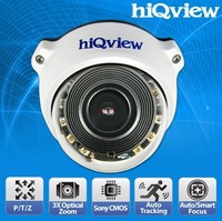 HIQ-7386 Full HD Motorized Pan/Tilt 3X Optical Outdoor PTZ PoE IP Zoom Camera
