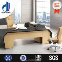 Unique design metal wooden office table model office popular office table From China