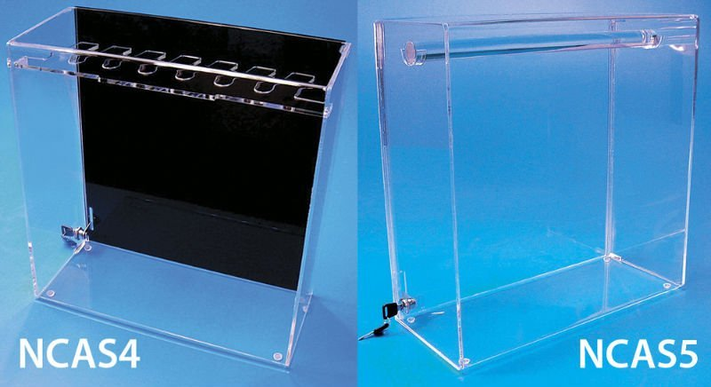 acrylic plastic cabinet display with lock