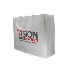Reusable pp laminated non woven shopping bag,glossy laminated tote bag