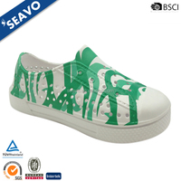 SEAVO 2016 cheap different brazil green camouflage printed kids plastic nude clogs